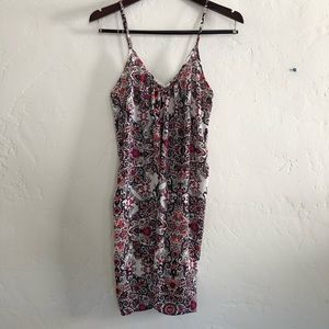 Small Floral V-Neck Casual Dress